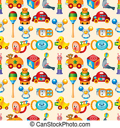 kid toy seamless pattern