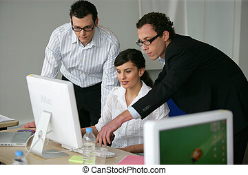Business professionals working together on a project