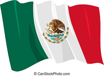 flag of Mexico - Political waving flag of Mexico