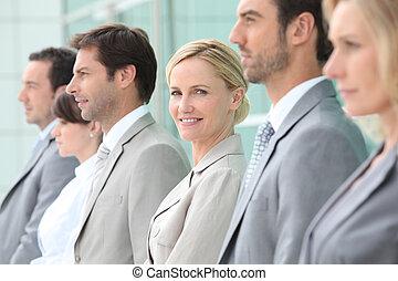 Executives in a row