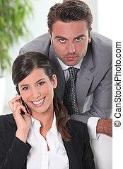 Portrait of an executive couple