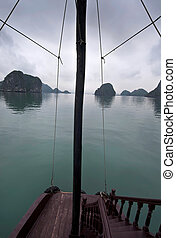 Boat Trip, Halong Bay - Boat trip at Halong Bay, Vietnam,...