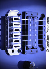 Guitar Pickups - Part of an electric guitar with pickup and...