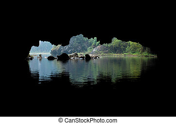 Cave Opening, Tam Coc, Ninh Binh - Cave opening as seen from...