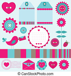 Scrapbook elements set
