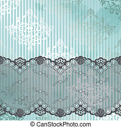Silver blue vector with black lace - Black French lace...