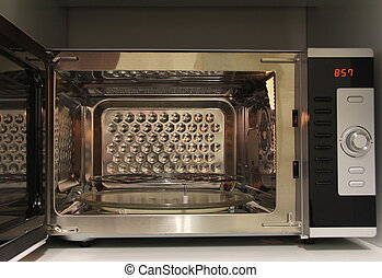 Microwave oven with grill  -  Open microwave oven with grill