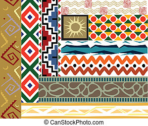 Tribal vector pattern set - Tribal border pattern Vector art...