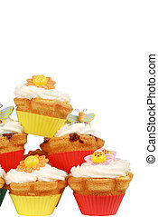 Stack of spring cupcakes