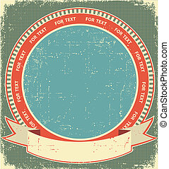 Vintage label background on old paper for design
