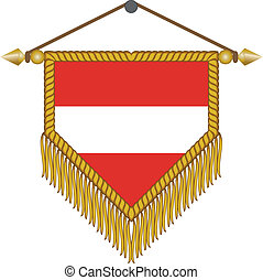 vector pennant with the flag of Austria - vector pennant...
