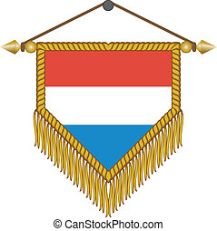 vector pennant with the flag of Netherlands - vector pennant...