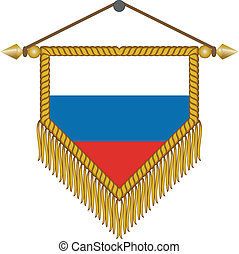 vector pennant with the flag of Russia - vector pennant with...