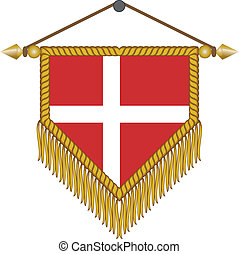 vector pennant with the flag of Denmark - vector pennant...