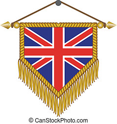 vector pennant with the flag of Great Britain - vector...