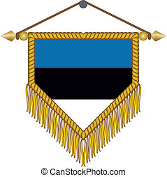 vector pennant with the flag of Estonia - vector pennant...