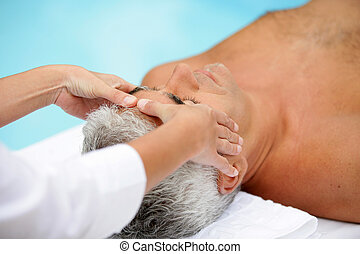A man getting a massage