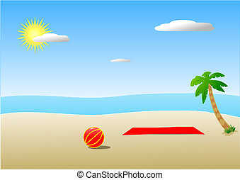 clipart beach scenes - photo #24