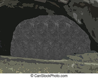 stereogram cave - a stereogram where you can detect a skull...