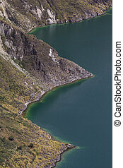 Quilotoa Shore - Detail of Quilotoal Shoreline, Andes,...