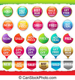 Sale Stickers And Labels, Isolated On White Background,...