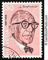 Postage stamp Switzerland 1972 Le Corbusier, Architect -...