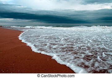 Stormy sea - This is a photograph of a stormy sea