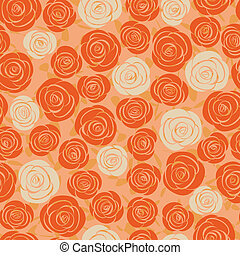 abstract rose seamless background - vector seamless abstract...