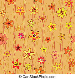 abstract flowers seamless pattern