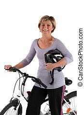 微笑, 白膚金髮, 自行車, 全部