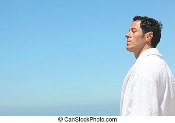 man staring at the horizon