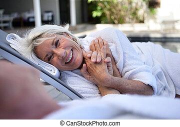 Elderly couple enjoying retirement