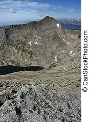 Mount Bierstadt - A view of Mount Bierstadt from mount Evans...
