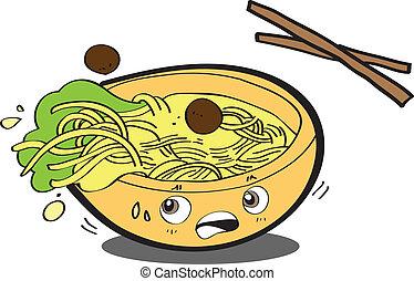 Ramen noodles EPS10,vector
