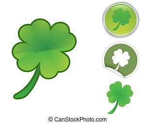 Four Leaf Clover icon for saint patrick's day