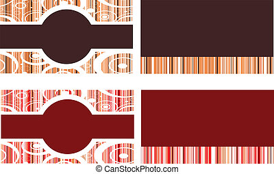 Brown and Red Business Cards
