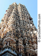 Hinduism temple - Bottom view of an ancient Hinduism temple...