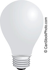 Light bulb - Domestic light bulb matt Vector illustration...