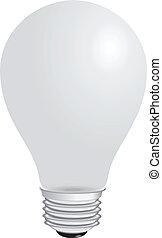 Light bulb - Domestic light bulb matt. Vector illustration....