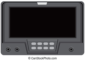 Modern technologies Screen with control buttons Vector...
