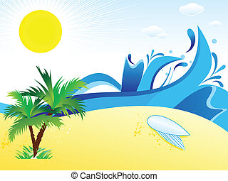 abstract summer theme  background vector illustration