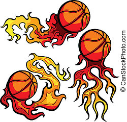 Basketball Ball Flaming Images - Basketball Ball Vector...