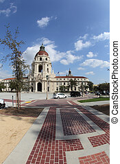 Pasadena City Hall - Fisheye photograph of the City Hall in...