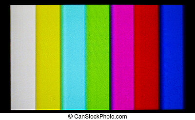LCD Television with color bars