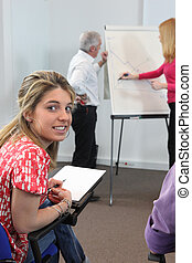 Girl in professional training