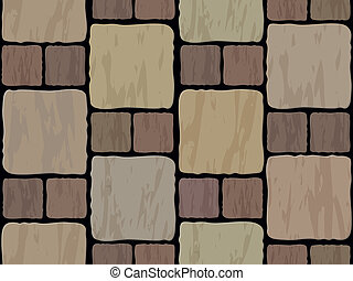 stone tile seamless background - vector stone floor tile...