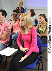 Young people in a lecture