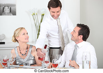 Friends at a party