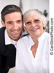 Grandmother with son