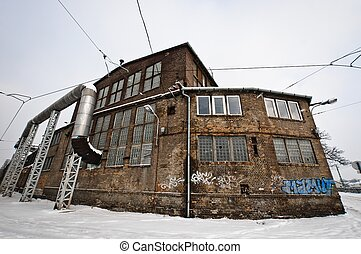 Abandoned industrial building